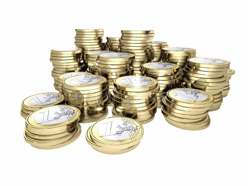 Moneda del euro del dinero 3d libre illustration