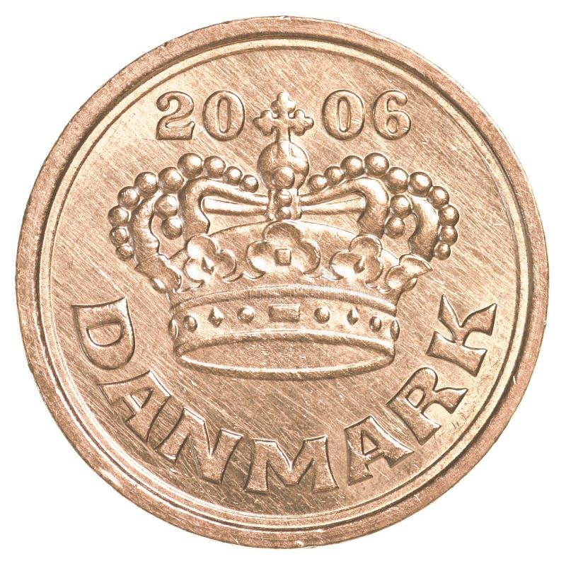 moneda del mineral del danés 50 fotografía de archivo