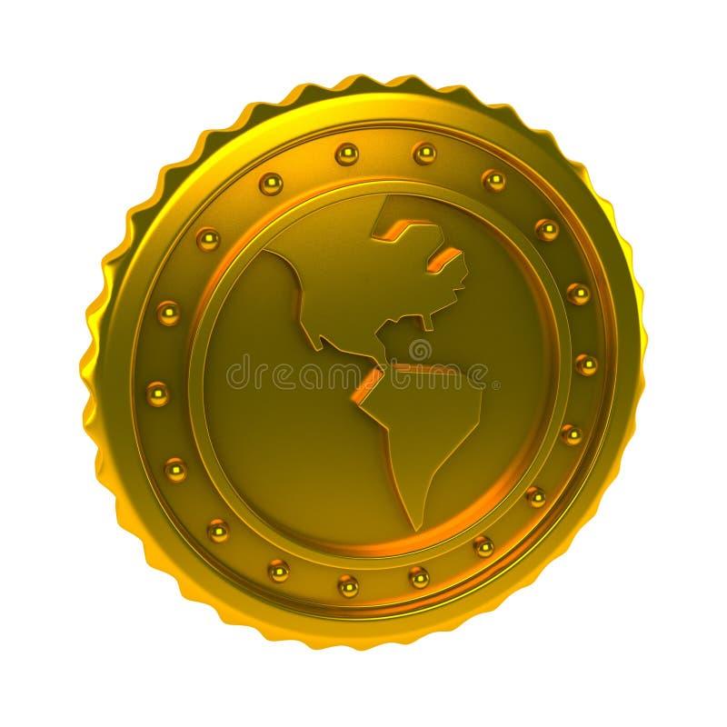 Moneda del mundo libre illustration