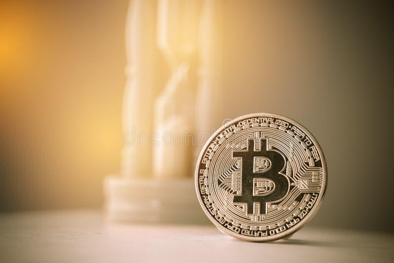 Moneda digital de Bitcoin o dinero virtual Bitcoin es moneda de Digitaces moderna del dinero virtual del pago del intercambio, or imagenes de archivo