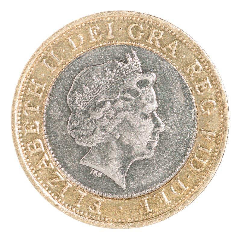 Moneda dos libras fotos de archivo