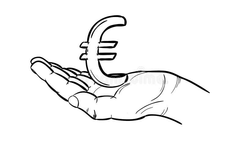 Moneda - euro ilustración del vector