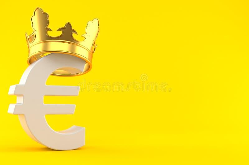 Moneda euro con la corona libre illustration