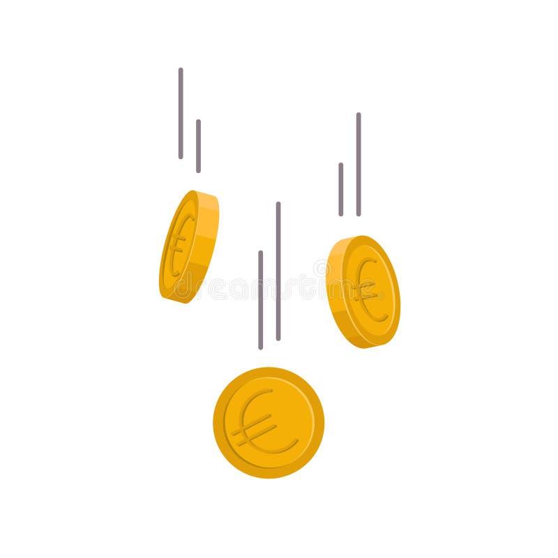 Moneda euro que cae abajo libre illustration