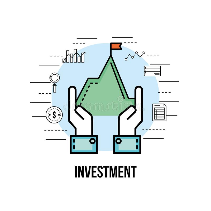Moneda financiera a la estrategia de la corporación stock de ilustración