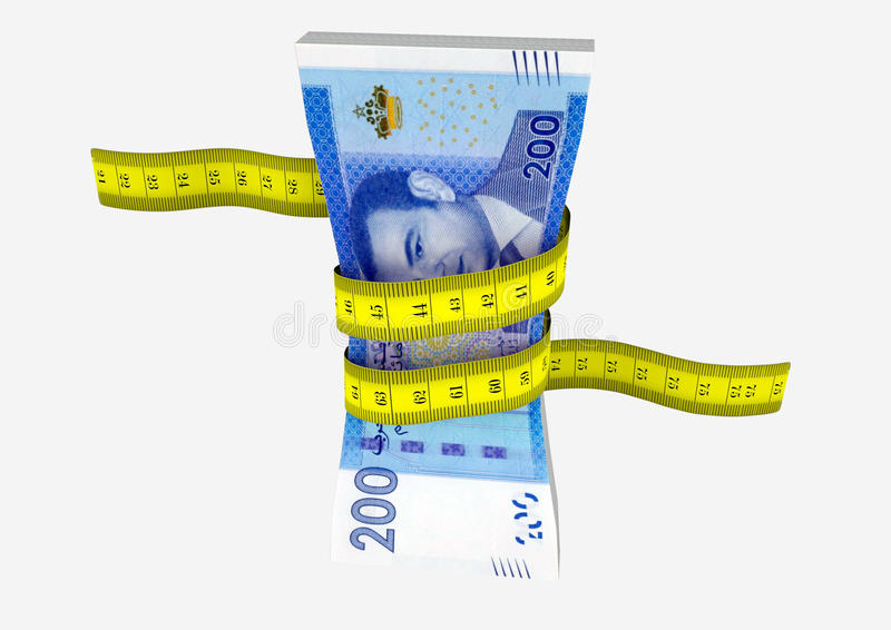 moneda marroquí 3D con los pares de tijeras libre illustration
