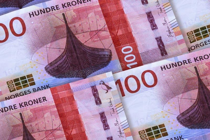 Moneda noruega Dinero del fondo del primer de Noruega imagen de archivo libre de regalías