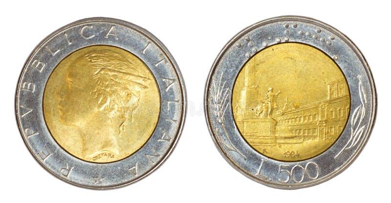 Moneda retra de Italia imagen de archivo
