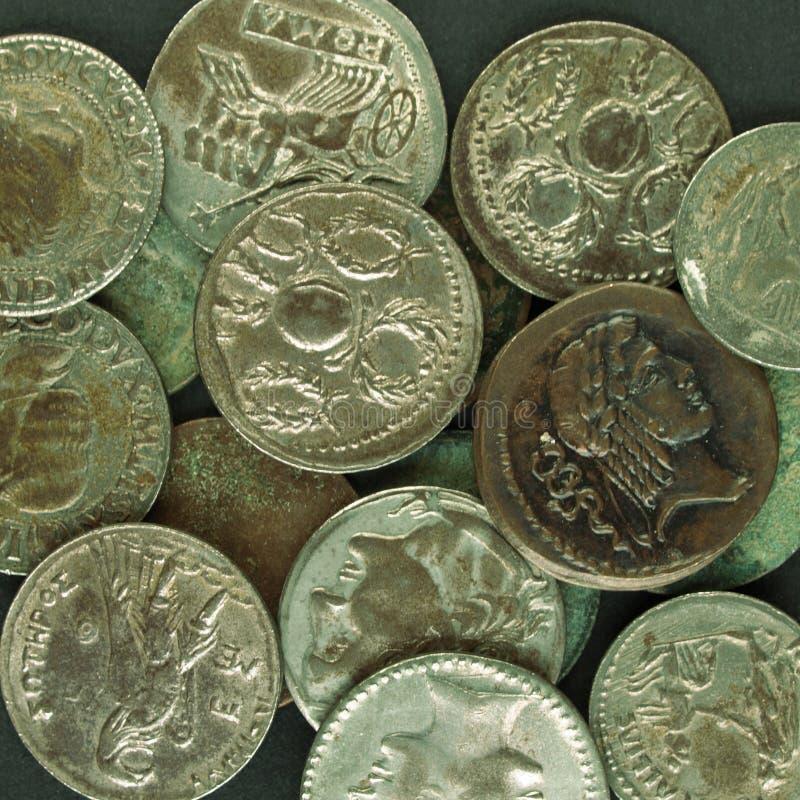 Moneda romana fotografía de archivo