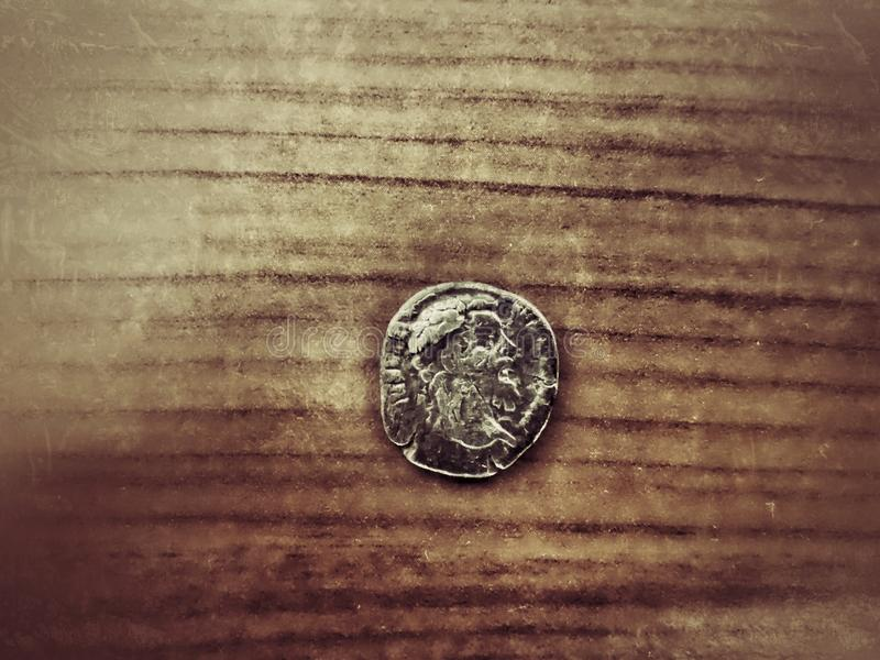 Moneda romana vieja fotografía de archivo