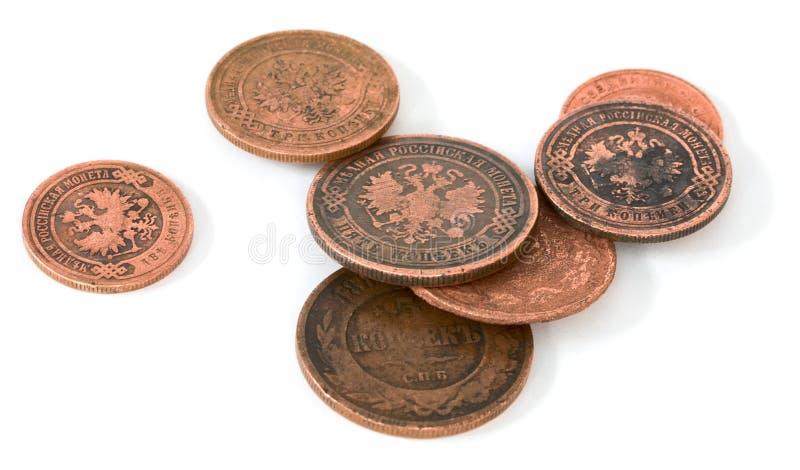 Moneda rusa de bronce antigua foto de archivo libre de regalías