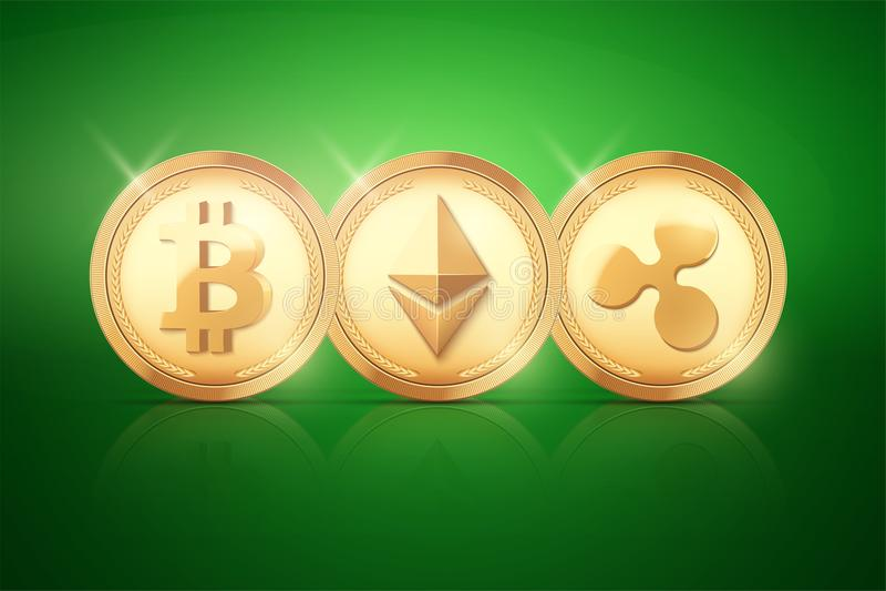 Moneda superior de Cryptocurrency ilustración del vector