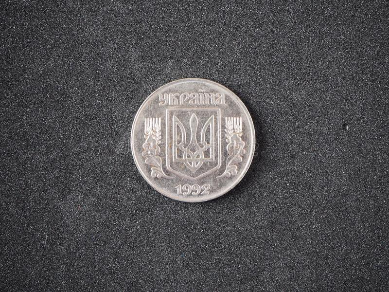 Moneda vieja de Ucrania 5 lado de la cola del kopeika 1992 de los copecs aislado fotografía de archivo libre de regalías