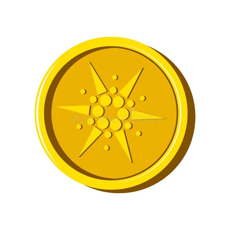 Moneda virtual del dinero de Cardano ilustración del vector