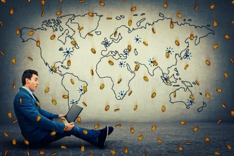 Moneda virtual global imagen de archivo