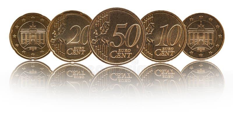 Monedas alemanas de Alemania del centavo euro imagen de archivo