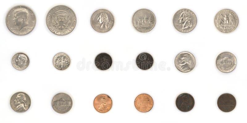 Monedas americanas fotos de archivo