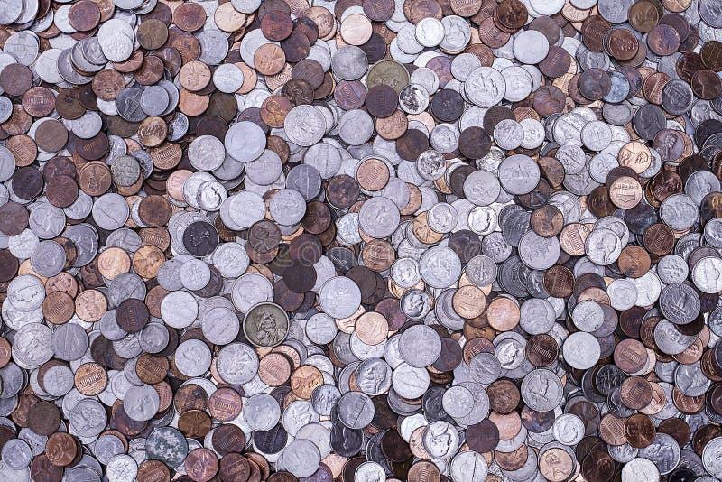 Monedas americanas fotografía de archivo libre de regalías