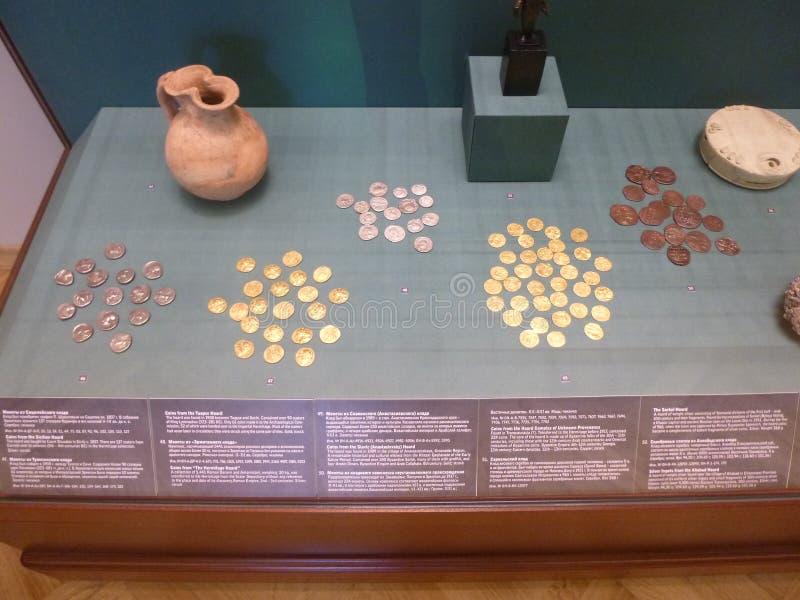Monedas antiguas imagen de archivo libre de regalías
