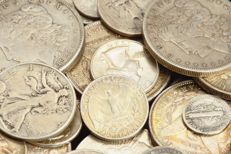Monedas antiguas americanas imagen de archivo libre de regalías