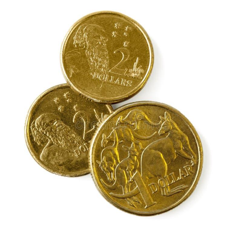Monedas australianas fotografía de archivo