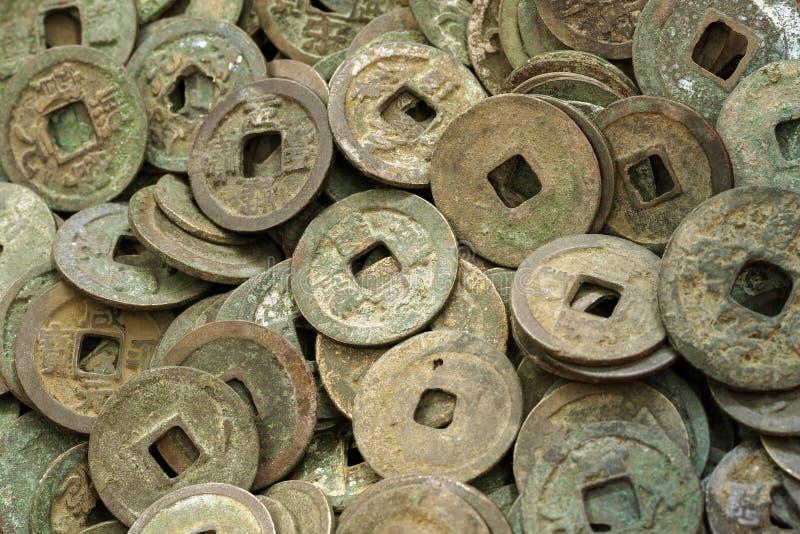 Monedas chinas antiguas fotografía de archivo libre de regalías