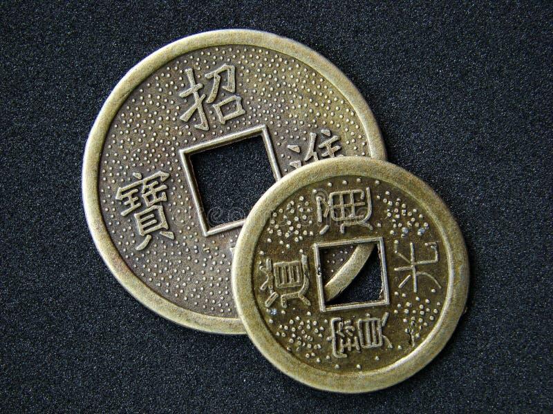 Monedas chinas del shui del feng imágenes de archivo libres de regalías