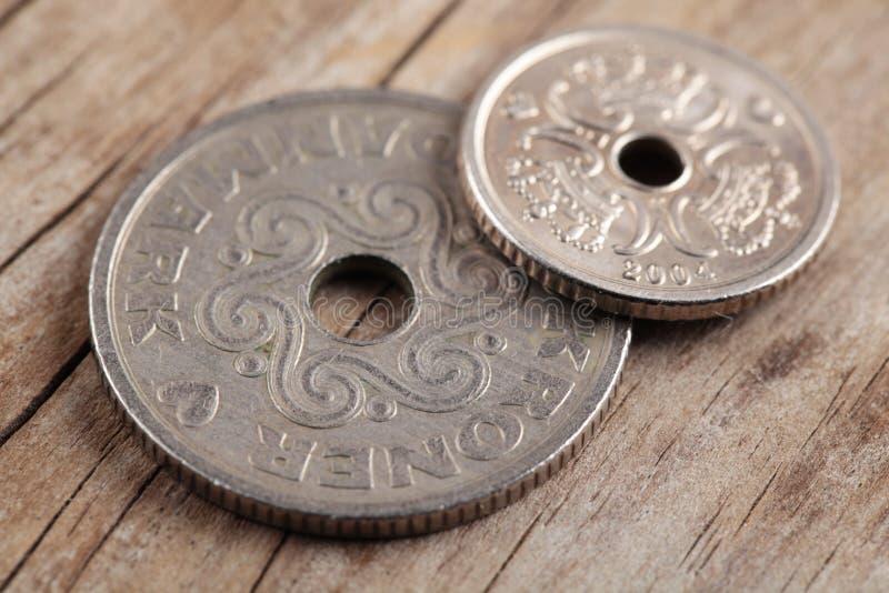 Monedas danesas foto de archivo