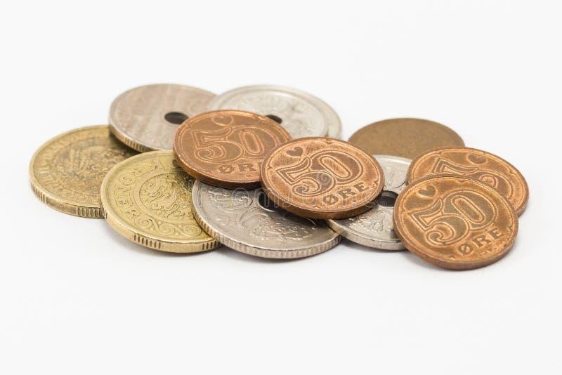 Monedas danesas imagenes de archivo