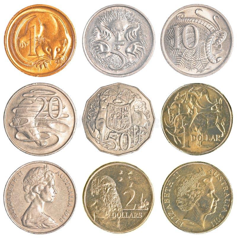Monedas de circulación de Australia foto de archivo libre de regalías