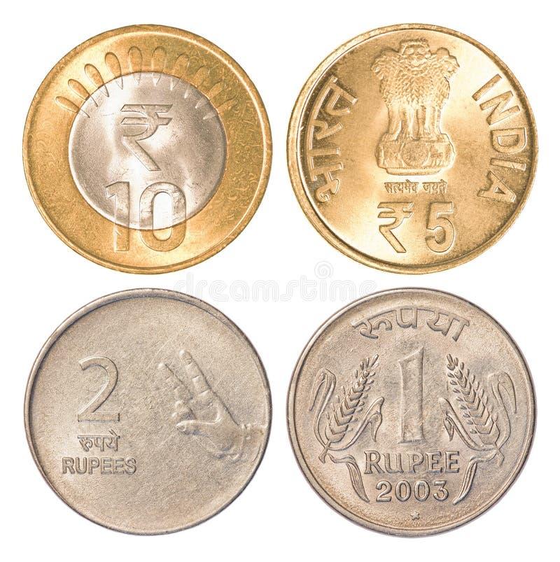 Monedas de circulación de la India foto de archivo libre de regalías