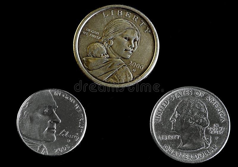 Monedas de diversa denominación que muestran la cara imagen de archivo libre de regalías