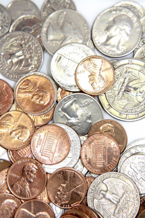 Monedas de Estados Unidos foto de archivo