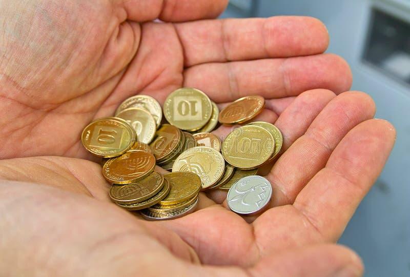 Monedas De Israel Imagen de archivo libre de regalías