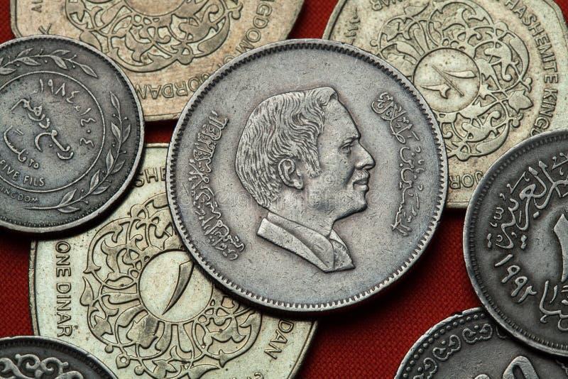 Monedas de Jordania Bin Talal de rey Hussein imagenes de archivo