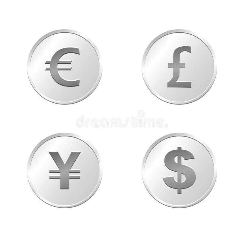 Monedas de la moneda - plata libre illustration