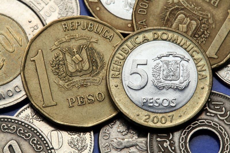 Monedas de la República Dominicana foto de archivo libre de regalías