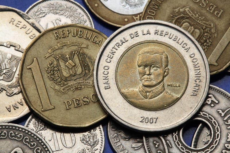 Monedas de la República Dominicana fotos de archivo