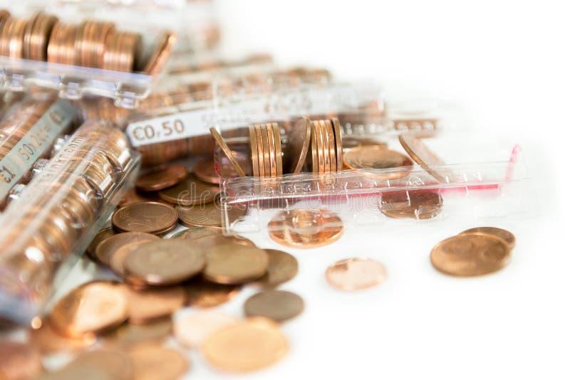 Monedas de los centavos euro imágenes de archivo libres de regalías