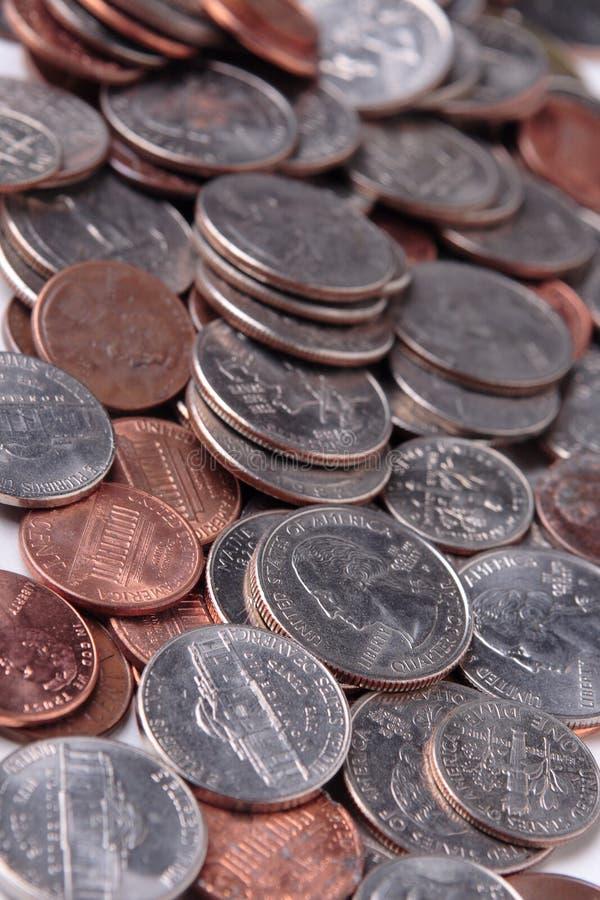 Monedas de los E.E.U.U. fotos de archivo libres de regalías