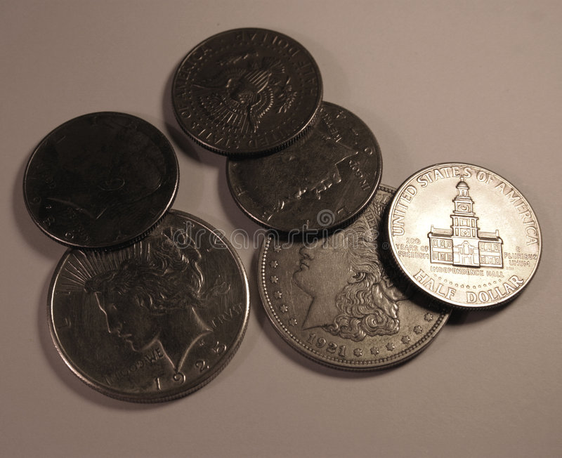 Monedas de los E.E.U.U. imagenes de archivo