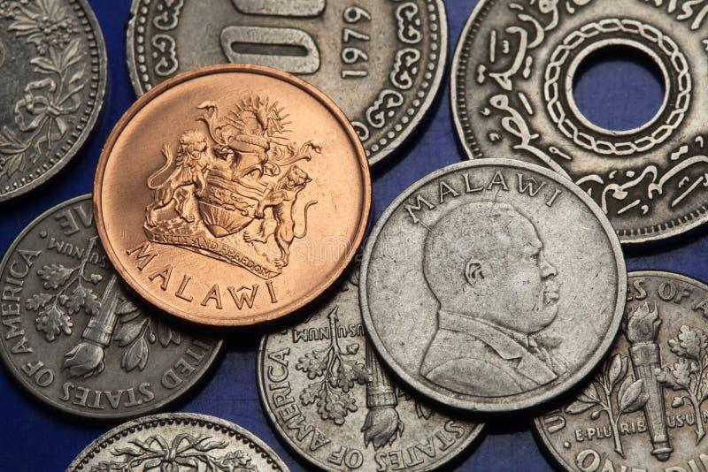 Monedas de Malawi fotos de archivo libres de regalías