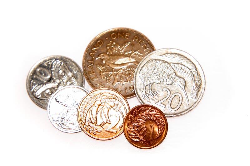 Monedas de Nueva Zelandia fotos de archivo