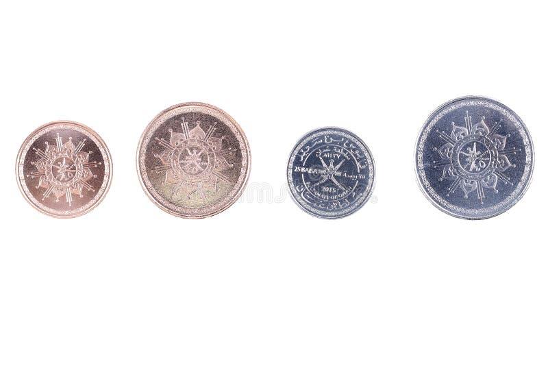 Monedas de Omán foto de archivo