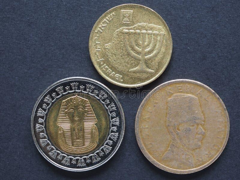 Monedas de Oriente Medio imagen de archivo