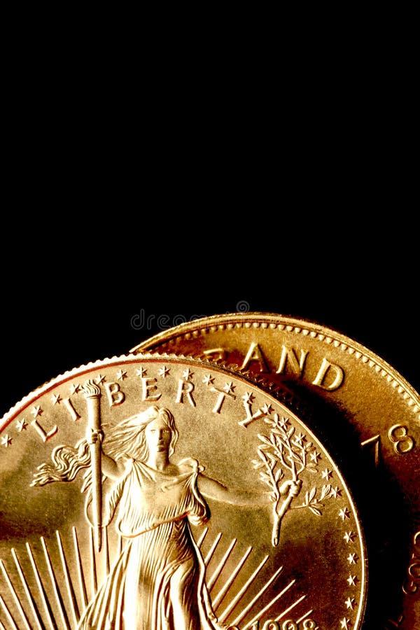 Monedas de oro foto de archivo