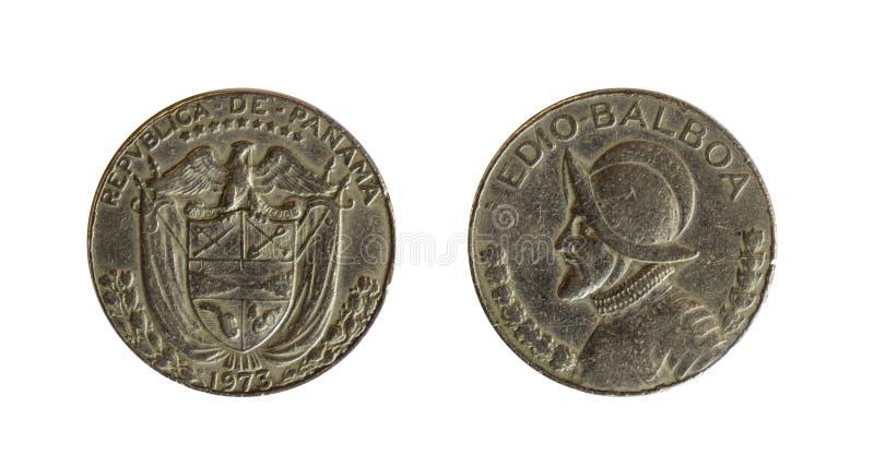 Monedas de Panamá imagenes de archivo