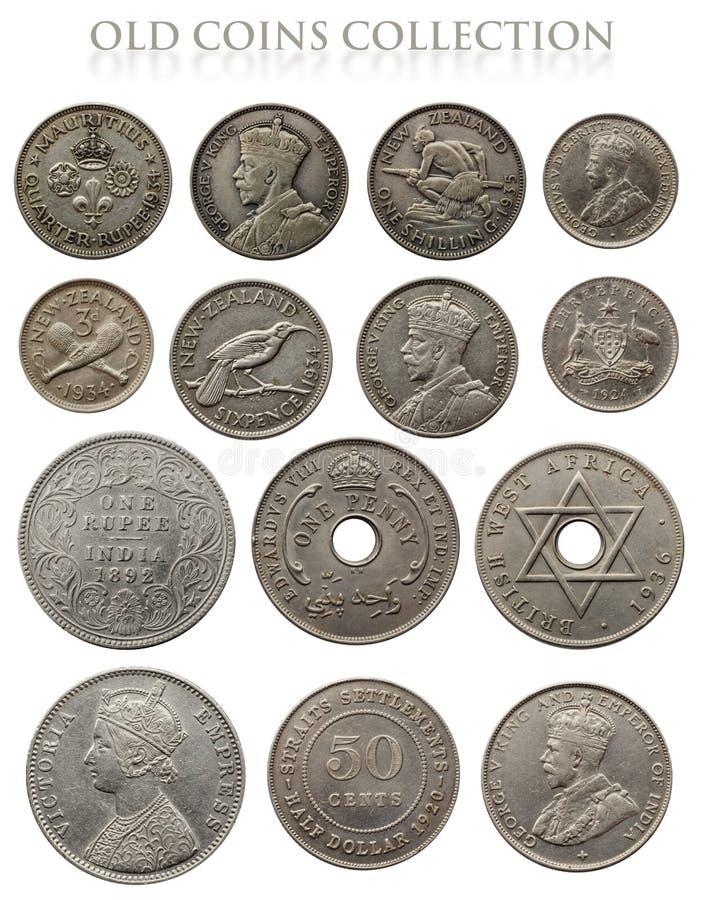Monedas de plata antiguas foto de archivo libre de regalías