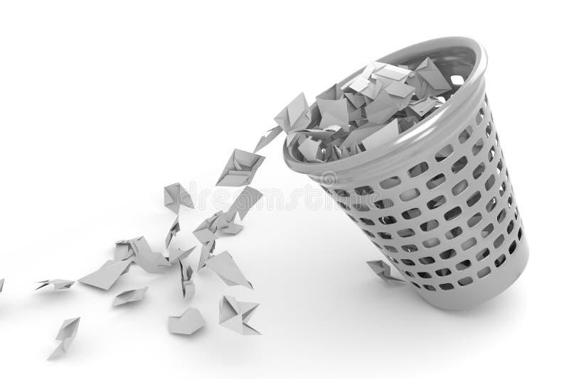 Monedas de reciclaje para basura de oficina fotografía de archivo libre de regalías