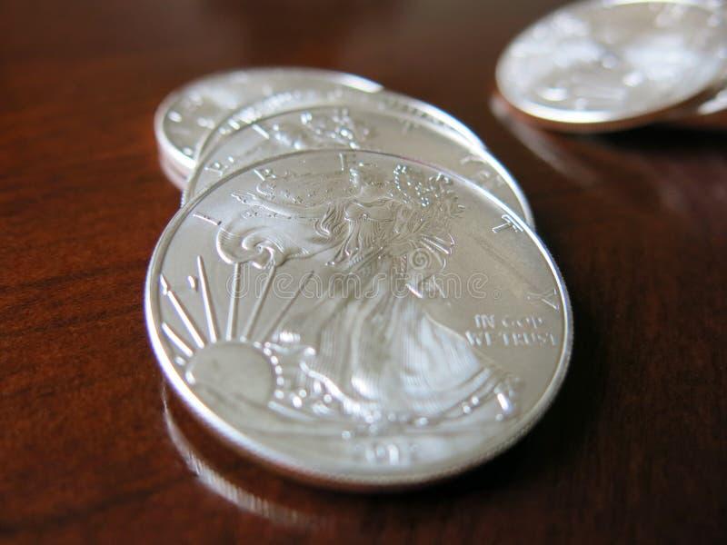 Monedas de Silover fotos de archivo libres de regalías